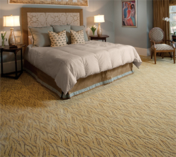 Professionally installed Luxurious Karastan carpet is available at Florence Carpet & Tile.