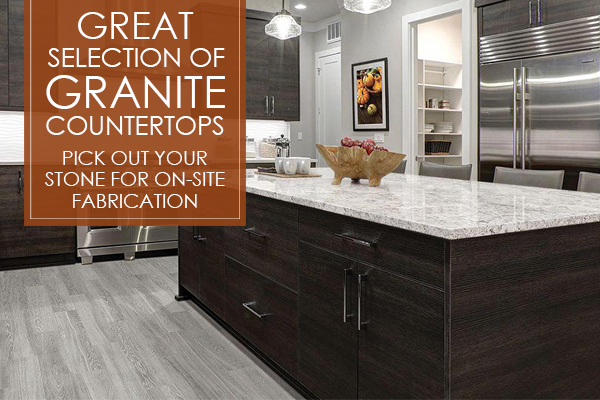 Great Selection of Granite Countertops - On Site fabrication. Come visit our showroom in Florence, South Carolina to see our amazing selections!