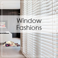 Featuring window fashions - stop by to see our extensive selections.